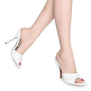 Pinup girl clothing white heels 7
